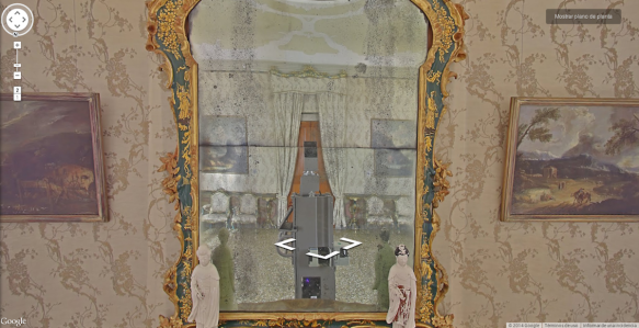 A Google camera takes an accidental self-portrait in a museum